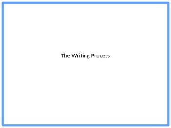 The writting process