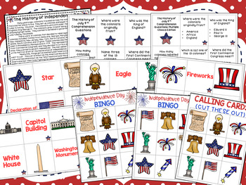 The History of the 4th of July Comprehension Packet