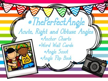 #ThePerfectAngle: Angle review: Anchor charts, scoot, flip book & word wall