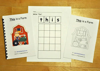 "The""This"" Sight Word Adapted Book"