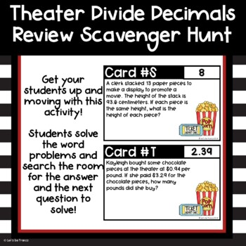 Theater Dividing Decimals Scavenger Hunt