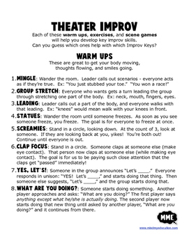 Theater Improv Warm-Ups and Games FOR EVERYONE