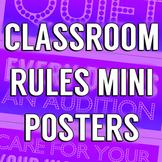 Theater Rules Mini Poster Set