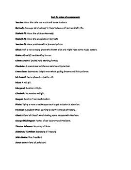 Theater Script- Don't Sleep on History