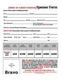 Theater Sponsorship Form