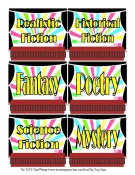 Theater Theme Bin Labels (Neon)