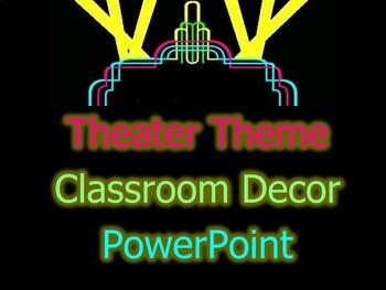 Theater Theme PowerPoint (Neon)