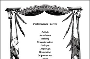 Theater Vocab Unit: Performance Terms