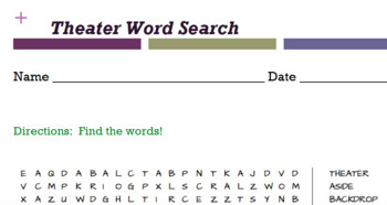 Theater Word Search