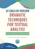 Theater Terminology and Dramatic Techniques for English Literature Essays (US)