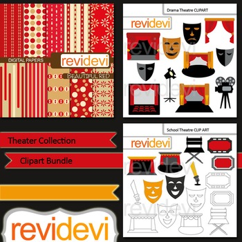 Theater collection clip art bundle (3 packs)