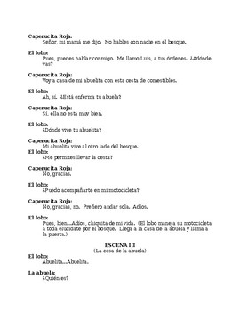 """Theater or Play """"Capercita Roja"""" (Little Red Riding Hood)"""