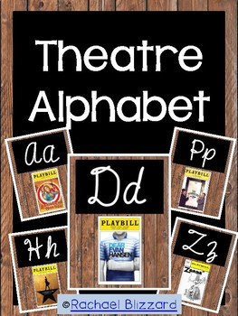 Theatre Alphabet Posters in Cursive
