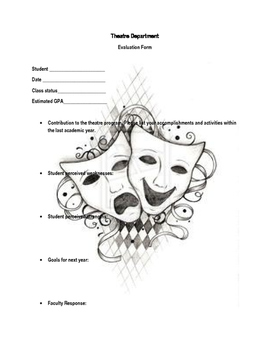 Theatre Department Evaluation Form