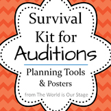 Auditions Survival Kit for Theatre Drama Auditions: Planning Tools & Posters