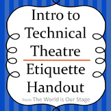 Theatre Audience Etiquette Drama Lesson Handout
