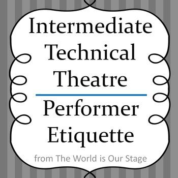 Theatre Etiquette for Actors Performers Drama Lesson Handout