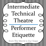 Theatre Etiquette for Actors Performers Drama Lesson Handout