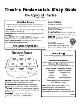 Theatre Fundamentals Study Guide