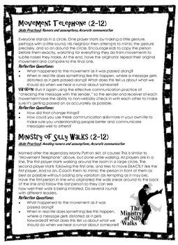 Theatre Games That Build Social & Emotional Skills - 4-12