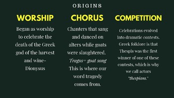 Theatre History: Ancient Greek Theatre Presentation
