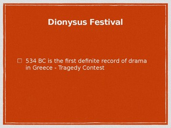 Theatre History Slides