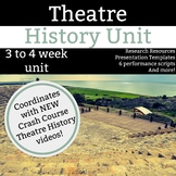 Theatre History Unit - 3 to 4 Weeks of Research, Presentation, and Performances