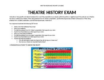 Theatre History Written Exam