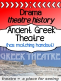 Drama - Theatre History - Ancient Greek Theatre