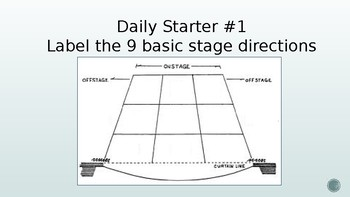 Theatre I & II Daily Starters 2
