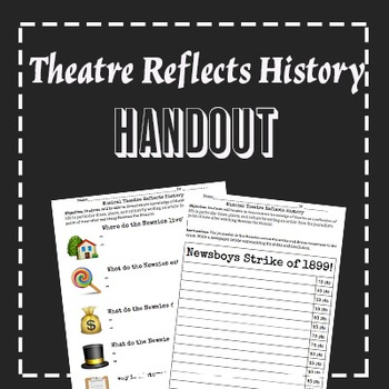 """Theatre Reflects Life with """"Newsies"""" Sub Lesson Plan"""