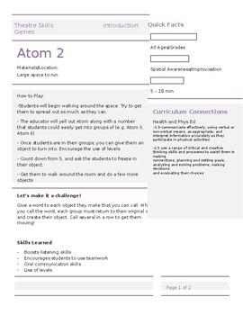 Theatre Skills - Atom 2