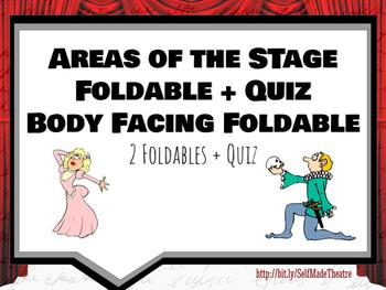 Theatre Stage Areas and Body Facings Foldables Fill in the Blanks Flip