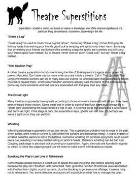 Theatre Superstitions