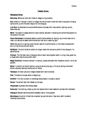 Theatre Terms Handout/Quiz/Answer Key