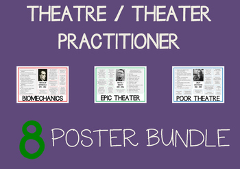 Theatre / Theater Practitioner 8 Drama Poster BUNDLE