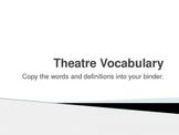 Theatre Vocabulary
