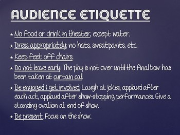 Theatre Vocabulary & Etiquette PPT