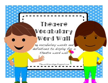 Theatre Vocabulary Word Wall edition