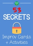 Theatre improv lesson plan resource : SECRETS improv cards and games