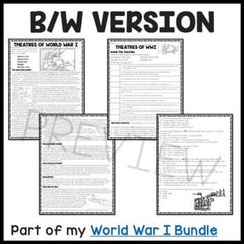 World War I- Theatres of War reading comprehension worksheet, Trench Warfare