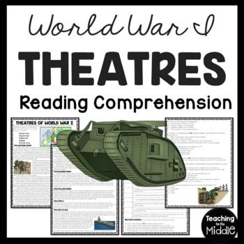 World War I- Theatres of War reading comprehension workshe