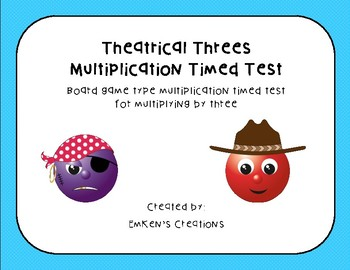 Theatrical Three Multiplication Timed Test