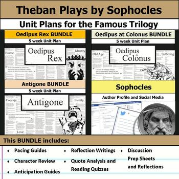 Theban Plays by Sophocles Unit - Oedipus Rex, Oedipus at Colonus, & Antigone