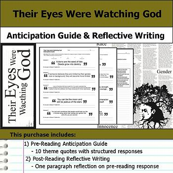 Their Eyes Were Watching God - Anticipation Guide & Post Reading Reflection