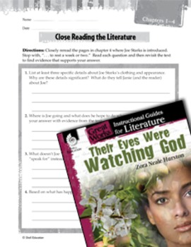 Their Eyes Were Watching God Close Reading and Text-Dependent Questions