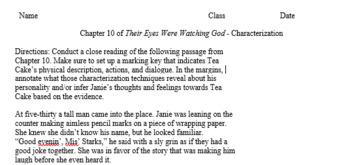 Their Eyes Were Watching God - Close Reading of Characterization