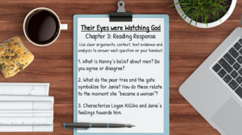 Their Eyes Were Watching God Novel Study Lessons & Student Packet