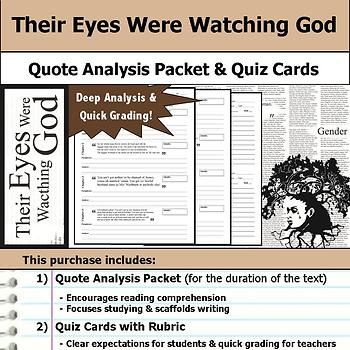 Their Eyes Were Watching God - Quote Analysis & Reading Quizzes