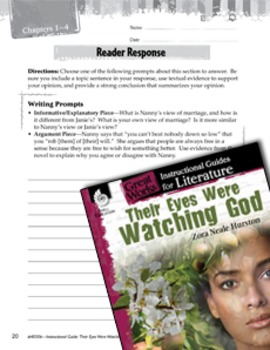 Their Eyes Were Watching God Reader Response Writing Prompts